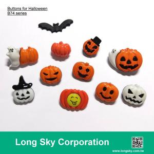 Craft and garment buttons for Halloween (card B74-1)