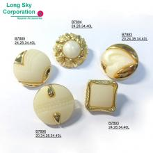 (B78X-1-5) Pearl top combined button for women wear
