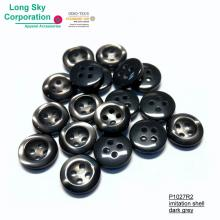 (#P1027R2) 18L 16L 14L Round Imitation Shell Resin Button For Uniform