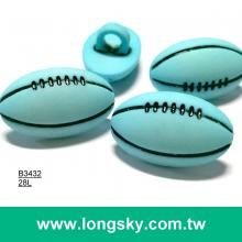 (#B3432) 28l nylon plastic football shank children's craft clothing button