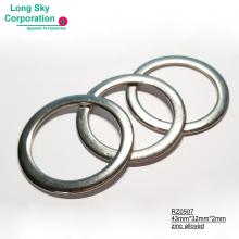 (RZ0507) 3cm inner zinc alloyed metal round belt trimming ring buckle