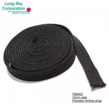 (TM2803) 10mm wide polyester knitting strap for garments