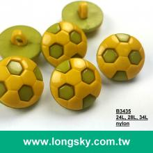 (#B3435) 24L, 28L, 34L 2-piece nylon soccer button, baby wear button, craft button