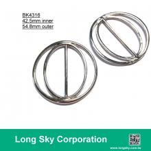 (#BK4316) 42.5mm inner silver color round metal belt buckle