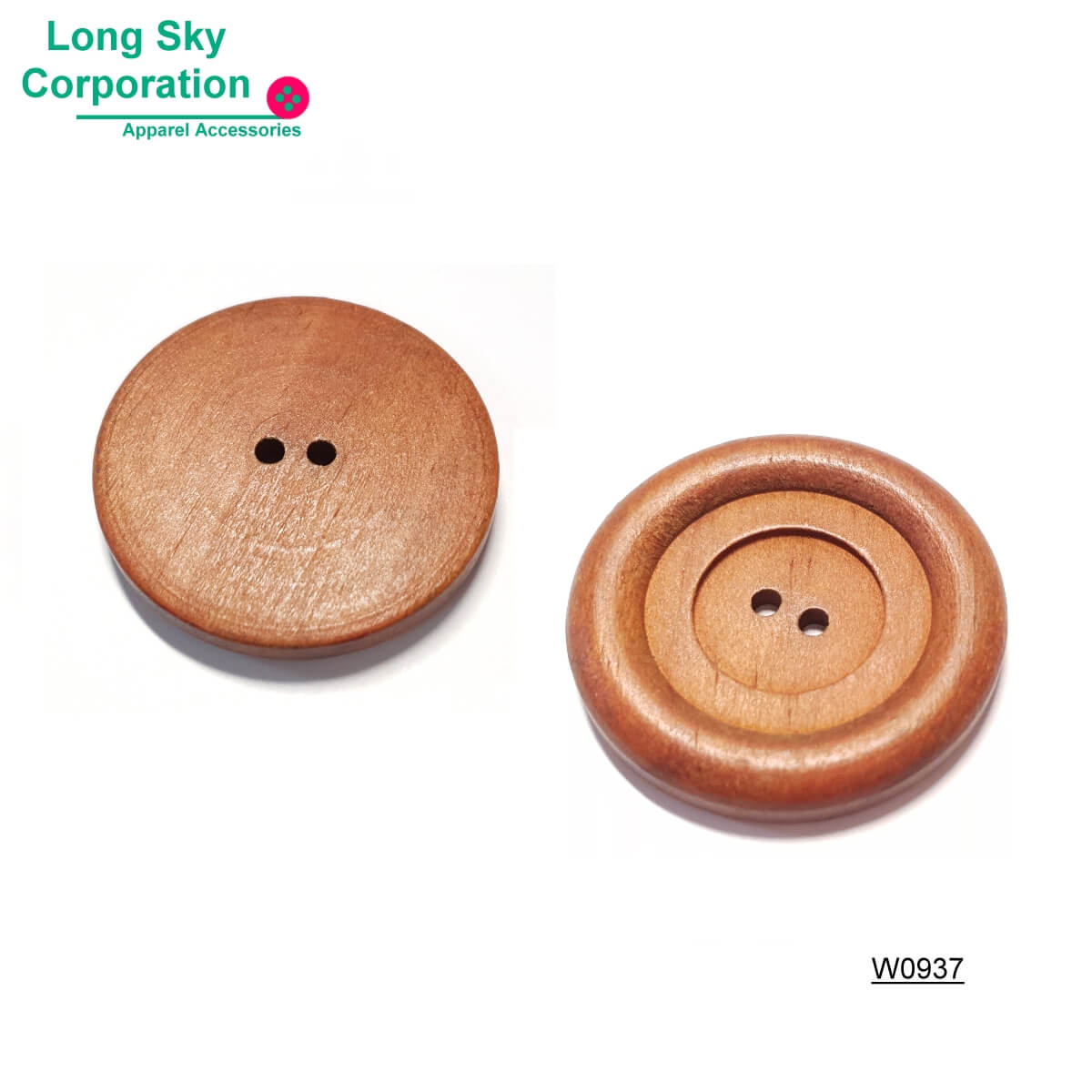 (#W0937) classical design natural wood coat button