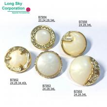 (B79X-1-5) New collection for 2020 fashion suit pearl top combined button